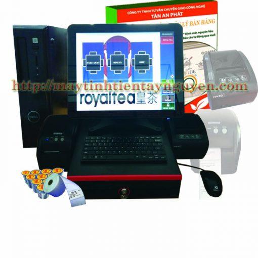 Máy Tính Tiền Cảm Ứng Case Dell Cho Trà Sữa
